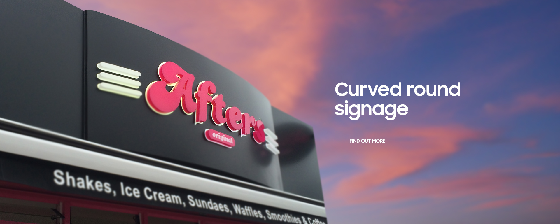Curved signage